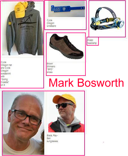 Mark Bosworth is wearing these items.